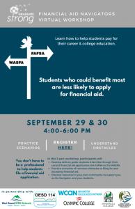 Olympic Peninsula Financial Aid Navigator Workshop @ online