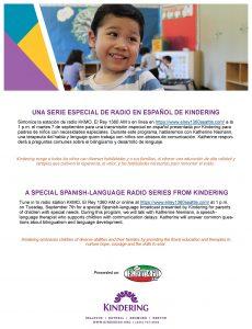 Una Serie Especial de Radio en Espanol de Kindering